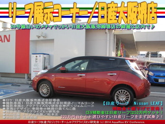 リーフ展示コーナー/日産大阪堺店04