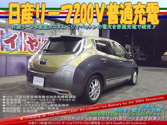 日産リーフ200V普通充電@リーフカスタム11