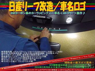 日産リーフ改造/車名ロゴ03