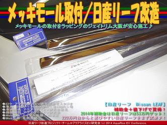 メッキモール取付/日産リーフ改造01