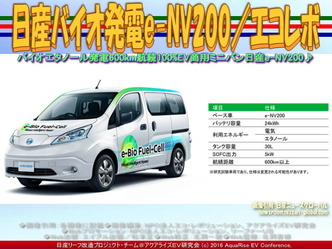 日産バイオ発電e-NV200/リーフ改造02