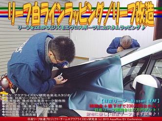 リーフ白ラインラッピング(4)/リーフ改造01