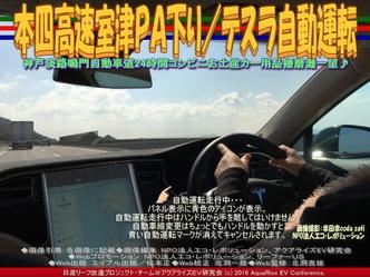 本四高速室津PA下り/テスラ自動運転01