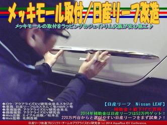 メッキモール取付/日産リーフ改造03