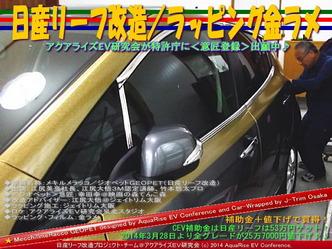 日産リーフ改造/ラッピング金ラメ@アクアライズEV研究会10