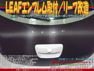LEAFエンブレム取付/リーフ改造05