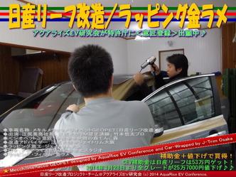 日産リーフ改造/ラッピング金ラメ@アクアライズEV研究会08