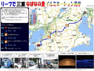 リーフ長距離運転/なばなの里長距離運転@日産リーフ改造 ▼クリックで1280x960pxls画像に拡大します。