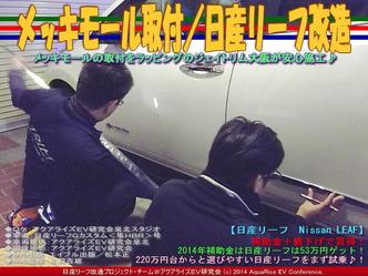 メッキモール取付/日産リーフ改造02