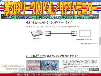 黒30XリーフDOP(4)/リアTVモニター画像01