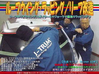 ルーフウイング・ラッピング/リーフ改造03