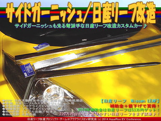 サイドガーニッシュ/日産リーフ改造02