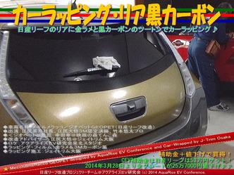 カーラッピング・リア黒カーボン@日産リーフ改造09