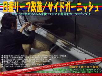 日産リーフ改造/サイドガーニッシュ@アクアライズEV研究会06