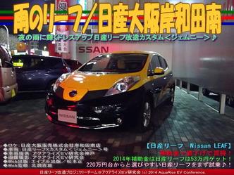 雨のリーフ/日産大阪岸和田南01