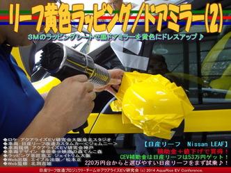 リーフ黄色ラッピング/ドアミラー(2)01