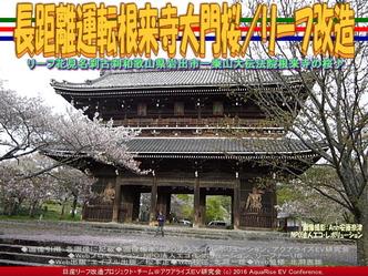長距離運転根来寺大門桜(2)/リーフ改造04