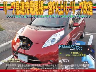リーフ急速充電尾張一宮PA上り/リーフ改造04