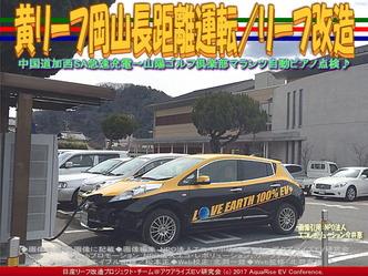 黄リーフ美作文化センター急速充電/リーフ改造画像02