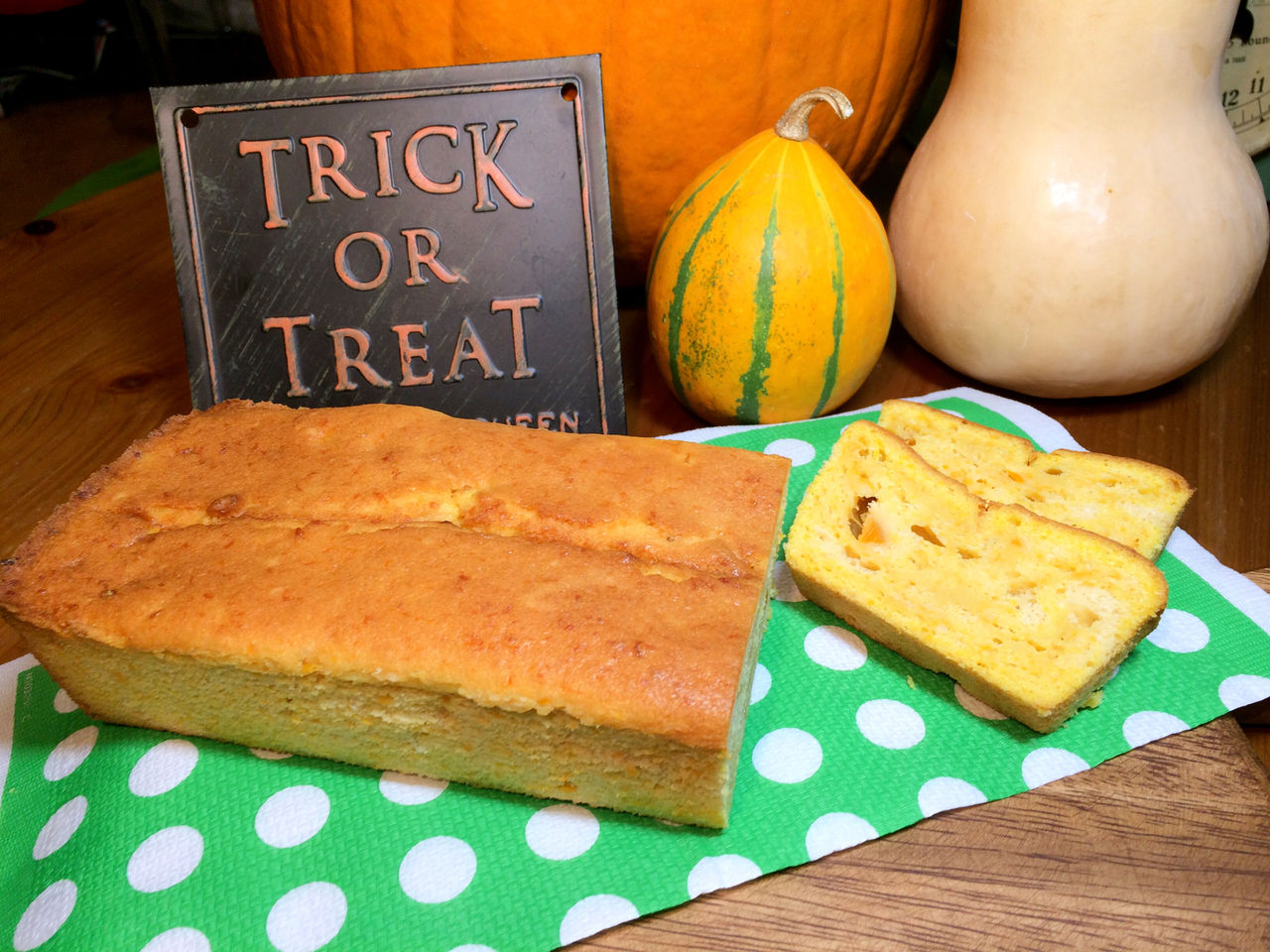 レシピ】バターナッツかぼちゃのパウンドケーキ  AraCafe