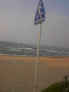 日本海と標識