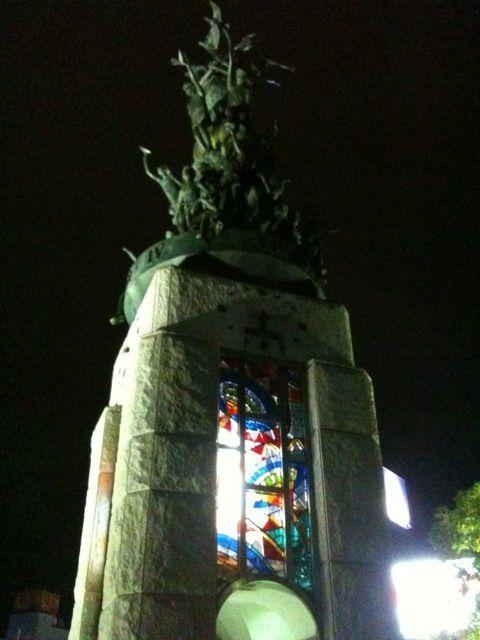 鳥取駅前の鐘楼