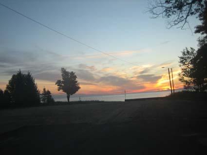 ミシガン湖の朝焼け