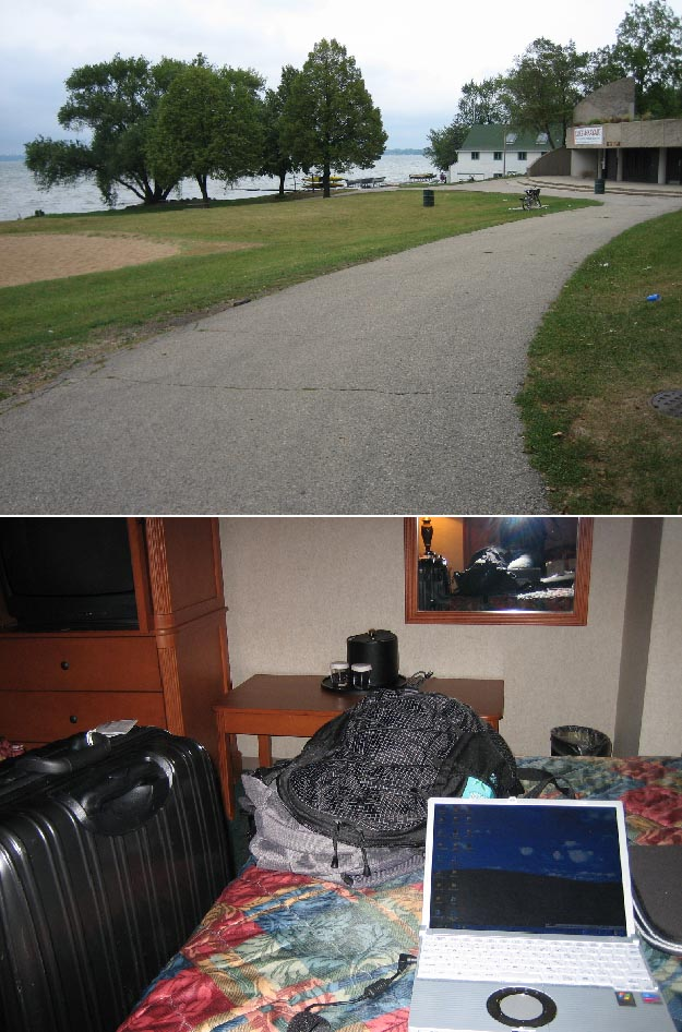 ウィスコンシンの湖と部屋