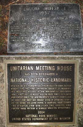 Jacobs Ⅰ house1937 と Unitarian Meeting House1951