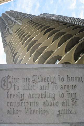 マリーナ・シティ(上)とトリヴューン・タワーのミルトン(下)