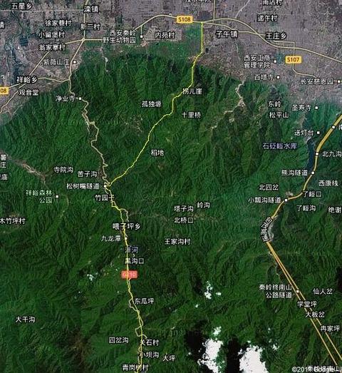 子午峪 子午古道 まなみヨガ 西安 地図2