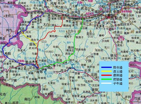 子午峪 子午古道 まなみヨガ 西安 地図3