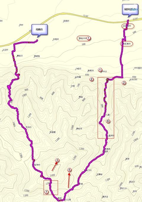 子午峪 子午古道 まなみヨガ 西安 地図1