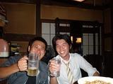山口さんと、楽しくお酒飲み(^-^)v