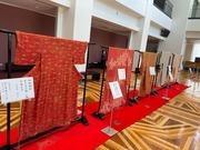 [やまぎん県民ホール]ロビー着物展示2021・10・10