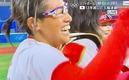 歓喜の上野投手