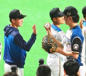 吉田輝星投手と石川直也投手
