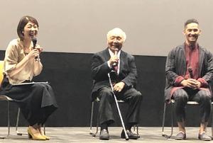 鈴木淳予さん、中島貞夫監督、中孝介さん