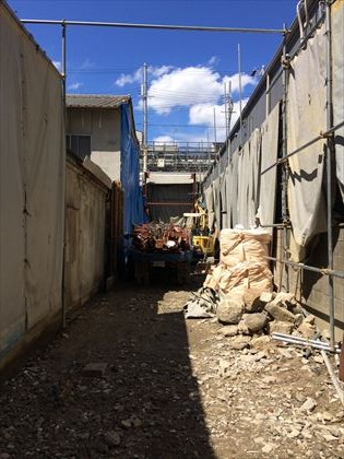 大阪市:商店街の店舗+住宅計画 解体終了