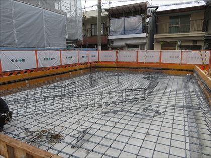 大阪:阿倍野の家 配筋工事