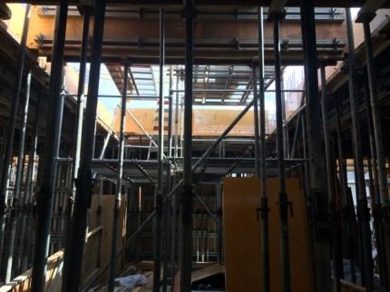 香川:高松のガレージハウス 1階型枠