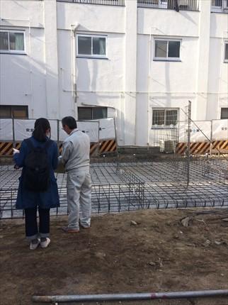 大阪:此花の平屋 配筋検査