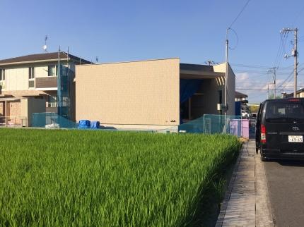 広島:福山の家3 外壁現る