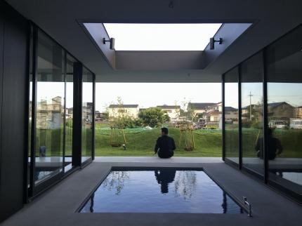 徳島:鳴門の家 水盤