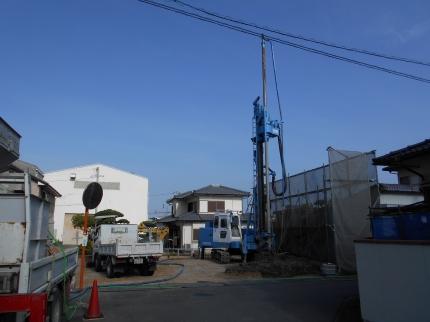香川:高松のガレージハウス 地盤改良