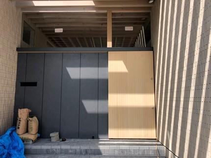 広島福山の家玄関木戸
