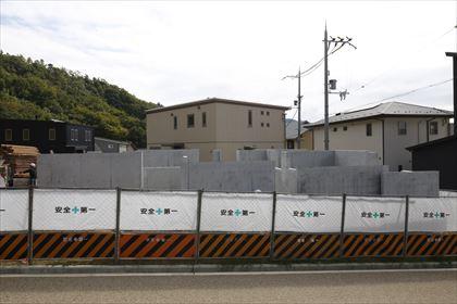 大阪:箕面森町の平屋 型枠が外れました