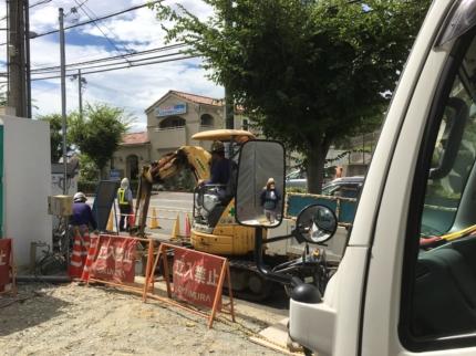 奈良:学園前のバレエショップ ガス工事