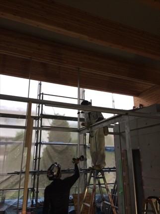 兵庫:神戸市北区の平屋 浴室ガラス枠工事