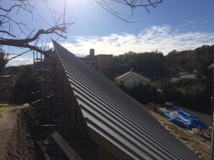 奈良学園前の屋根
